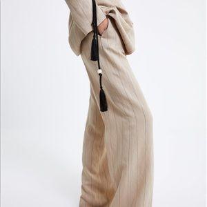 Zara Striped Palazzo Trousers